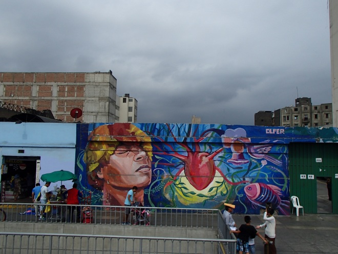 Many of the streets are lined with amazing murals like this one