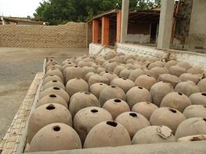 Wine barrels before wood was abundant down here