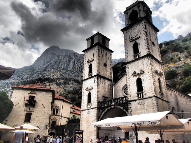 A church dating back to the 9th century in Kotor's Old Town.