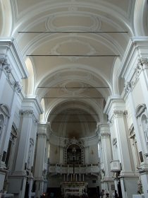 The inside of the church