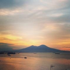 Sunset over Mt. Vesuvius