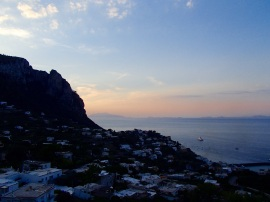 Our last Italian sunset, viewed from the top of Capri Island