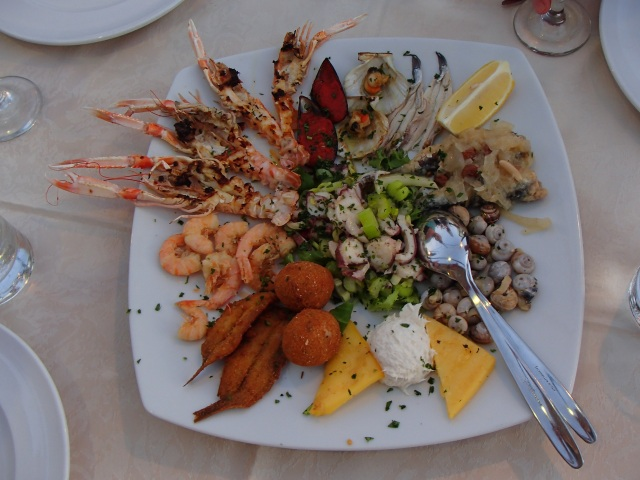 Nothing beats fresh caught seafood, except maybe the view we had eating it!