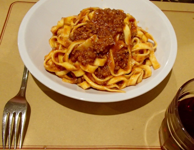 Tagliatelli Ragu, the real deal in Bologna pasta at one of the best restaurants in Bologna!