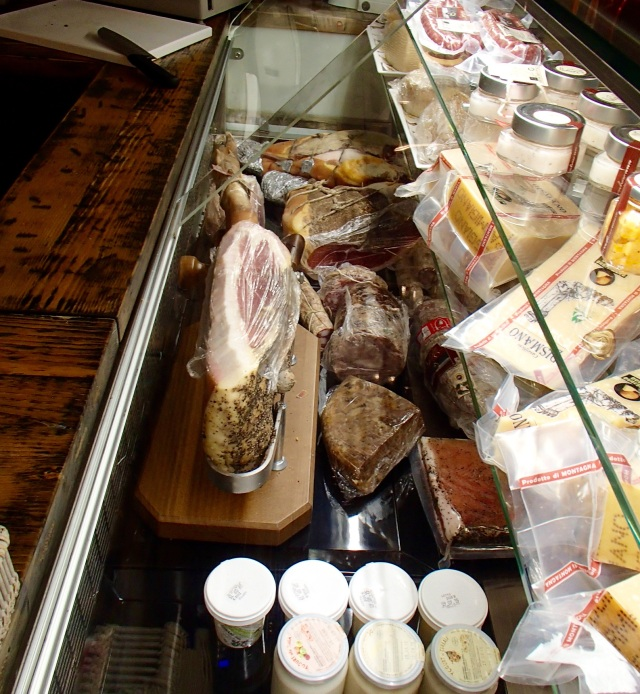 Hand carved cinta senese and many other artisan meats and meat products.
