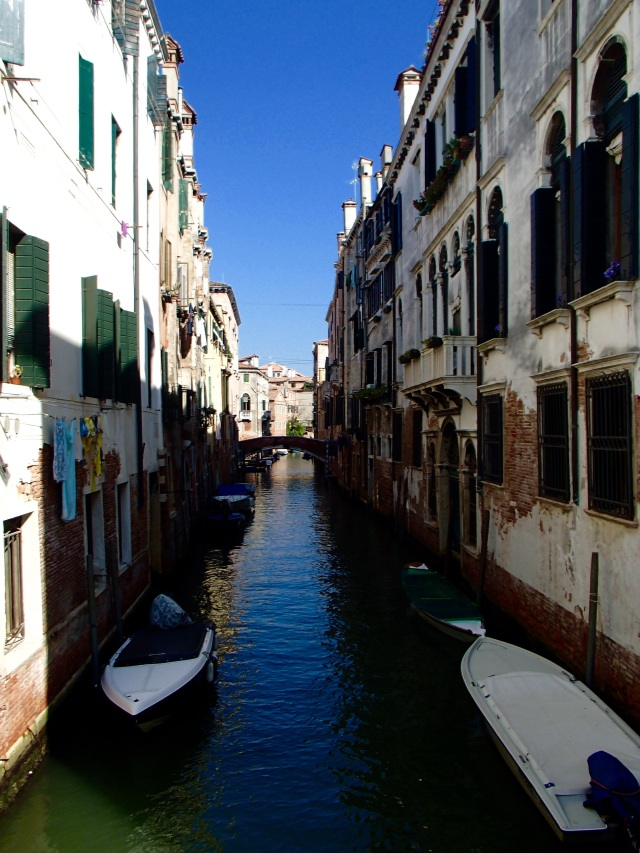 "One of the beautiful canal ""streets"" of Venice"