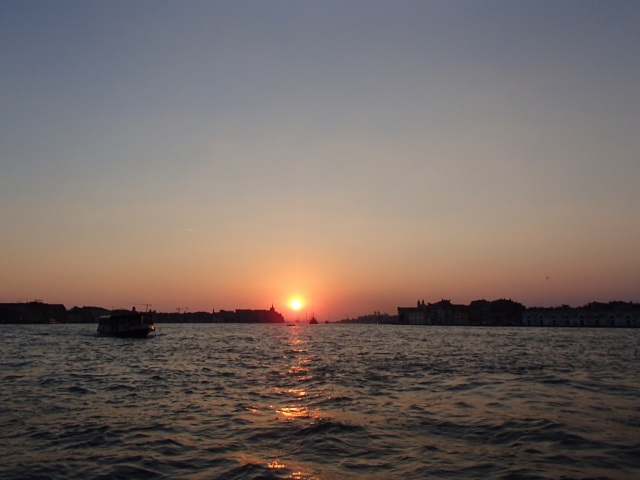 One of the many beautiful sunsets from the island of Giudecca