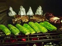 Amazing T-bones and veggies on the grill