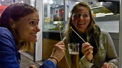 Can you tell how excited the ladies are to eat their minnows?