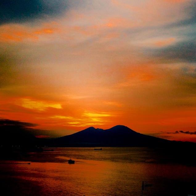 Vesuvius on fire