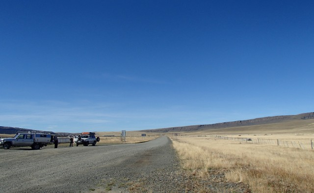 Traffic jam at the border crossing.